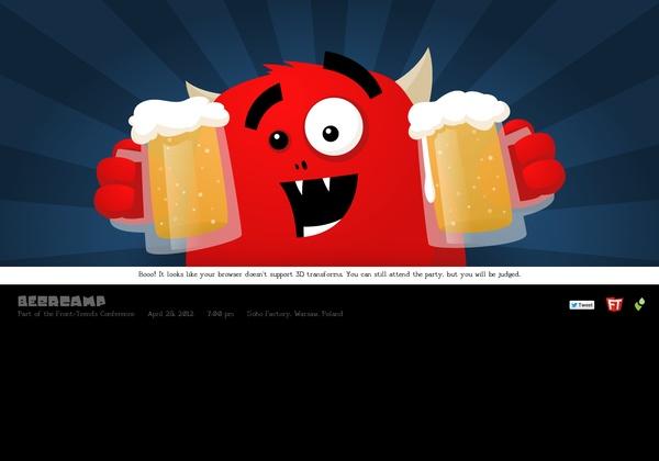 http://2012.beercamp.com via @url2pin  pop-up book website