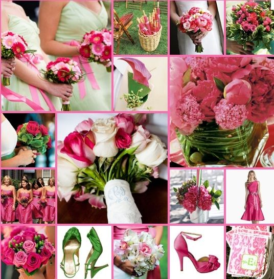 Pink And Green Spring Wedding