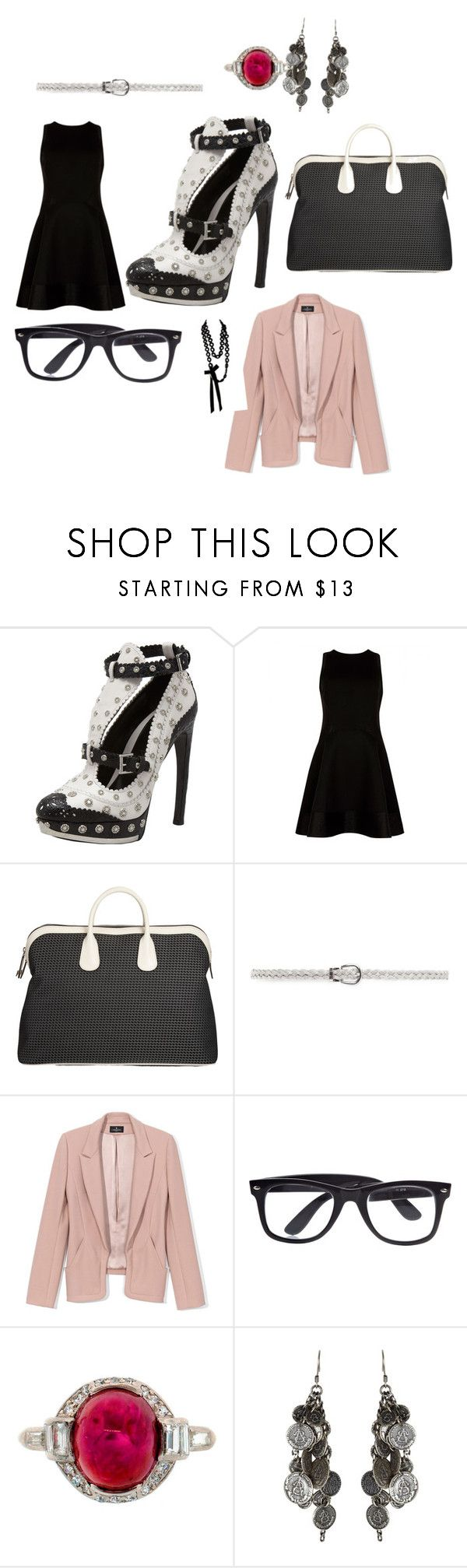 """""""Untitled #5656"""" by brittklein ❤ liked on Polyvore featuring Alexander McQueen, Ted Baker, Valextra, MANGO, J. Mendel, River Island, AllSaints and Sally Phillips"""