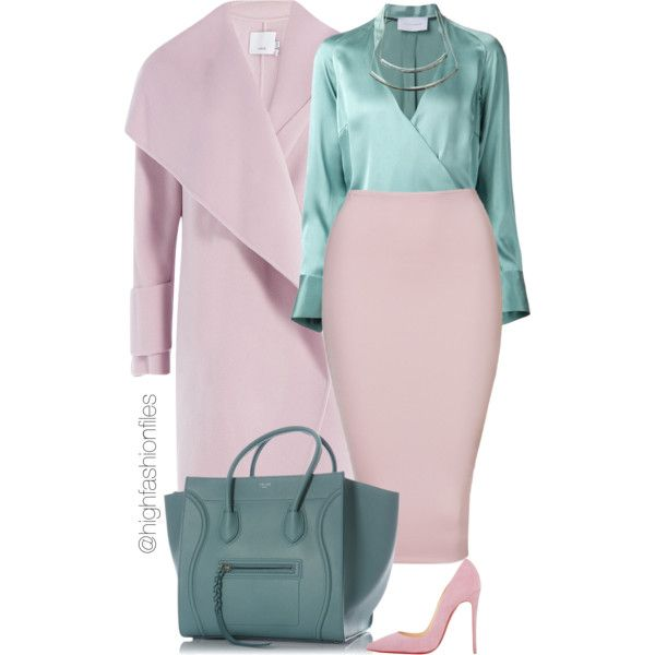 A fashion look from September 2015 featuring STRATEAS.CARLUCCI blouses, Vince coats and Christian Louboutin pumps. Browse and shop related looks.
