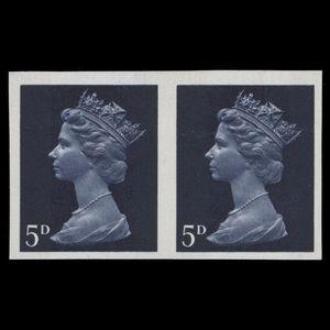 Great Britain 1968 (Error) 5d Royal Blue