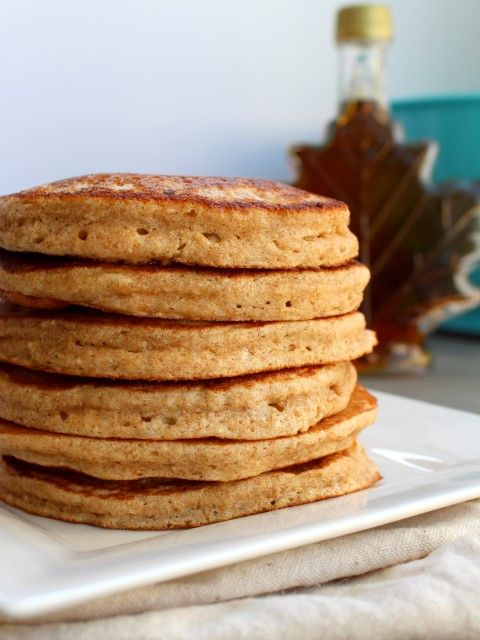 Fluffy Whole Wheat Oatmeal Pancakes. Plus a tip to make the fluffiest pancakes ever.