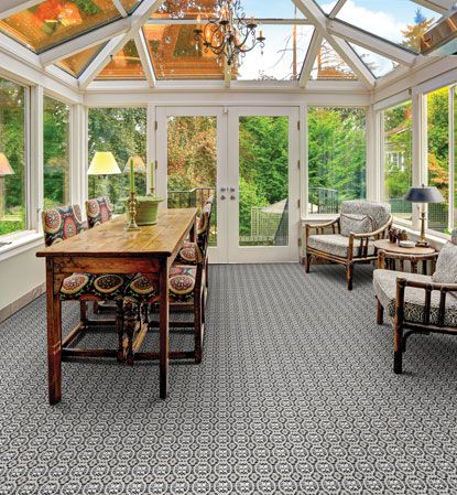 A majority of indoor/outdoor carpets sold today are flatwoven of 100% polypropylene (backing and surface). This type of construction and fiber usage makes them highly colorfast and highly resistant to fading due to sunlight and UV exposure. Stain resistant, these types of carpets are easy to clean and maintain. In addition, these flatwoven carpets are mold and mildew and water-resistant.