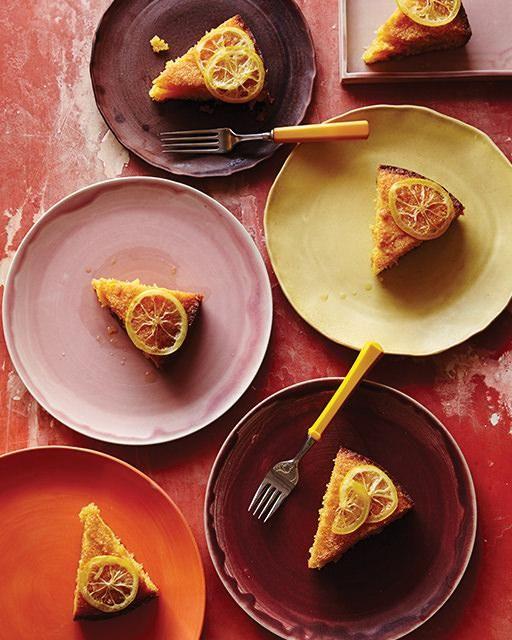 Polenta Cake Soaked in Lemon Honey Syrup