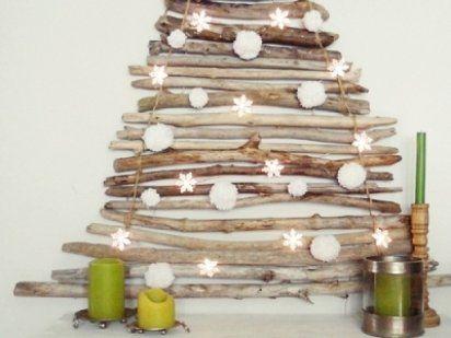 Con ramitas: Decor Ideas, Adorno Navidad, Adorable Diy, Wooden Christmas Trees, Holidays Ideas, Christmas Trees Ideas, Christmas, Diy Wooden, Wood Christmas Trees