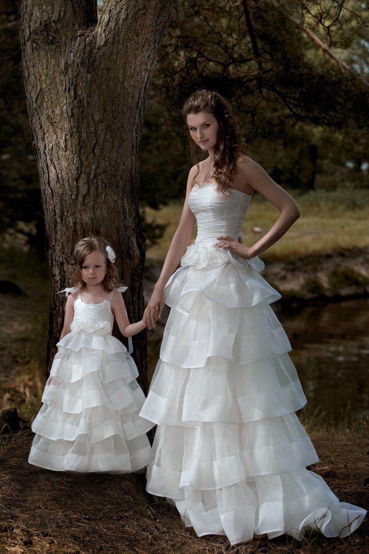 126 best images about wedding dresses ballgowns on for Matching wedding and flower girl dresses