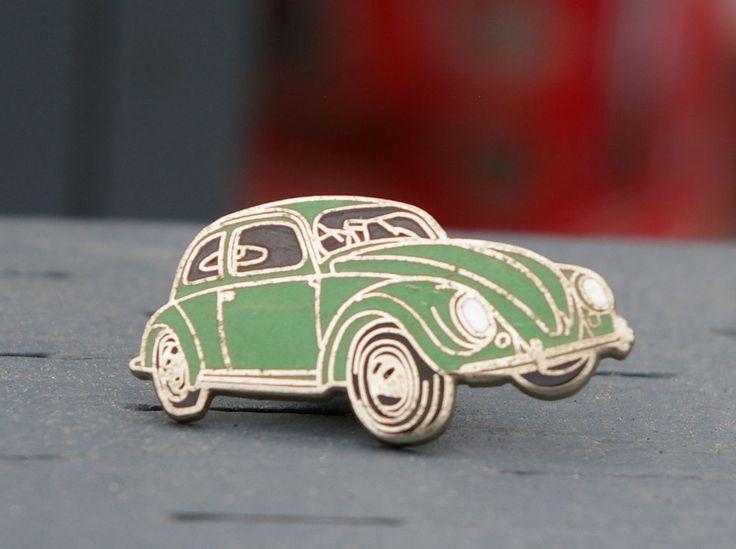 Green VW Volkeswagon Beetle Bug Car Pin Pinback  | eBay