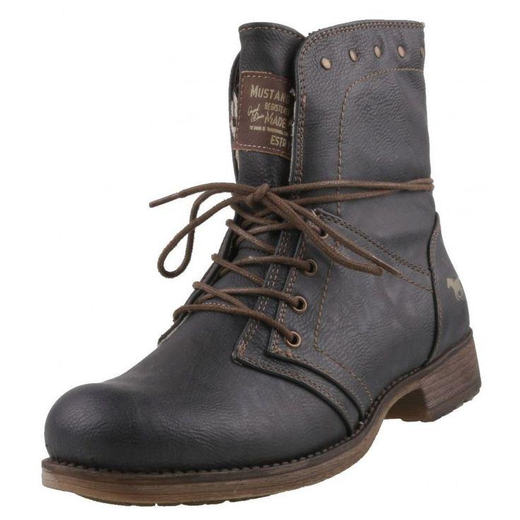 NEU Mustang Damenschuhe Schuhe Stiefeletten gefüttert Stiefel Damenstiefel  | eBay