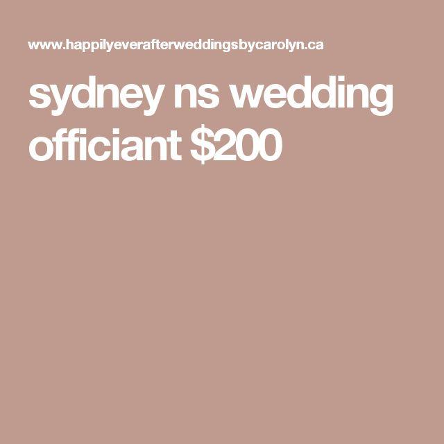 sydney ns wedding officiant $200