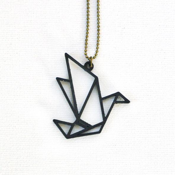 Ketting origami vogel – Feisty Favorites