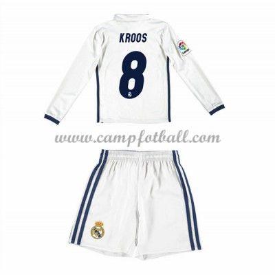 Fotballdrakter Barn Real Madrid 2016-17 Kroos 8 Hjemme Draktsett Langermet