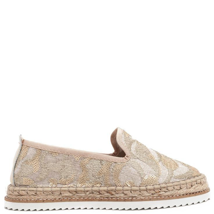 Gold #espadrille with sequins