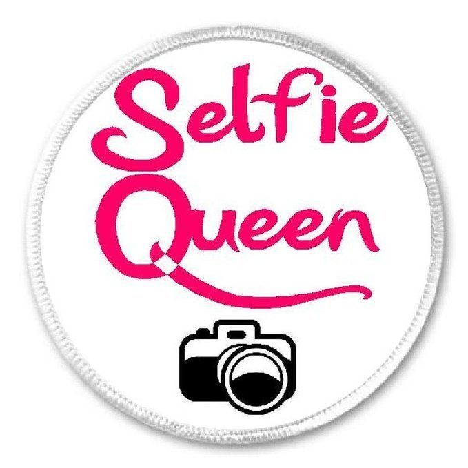 """Selfie Queen Camera - 3"""" Sew / Iron On Patch Hashtag Funny Humor"""
