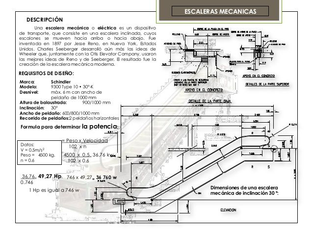 ESCALERAS MECANICAS   DESCRIPCIÓN       Una escalera mecánica o eléctrica es un dispositivode transporte, que consiste en ...