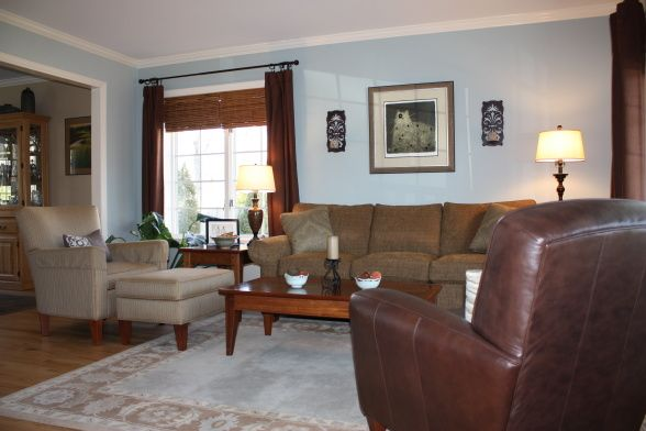 Blue And Brown Living Room This Is A Small Room That