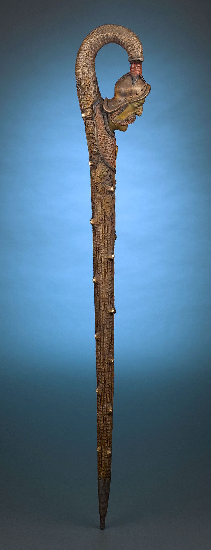 Antique Walking Sticks, Folk Art, Jan Zizka Folk Art Cane ~ M.S. Rau Antiques