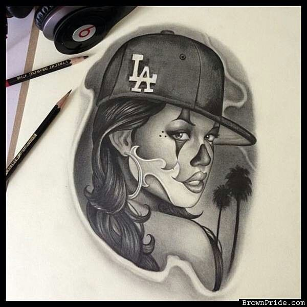 Pin by adriana martinez on chicano style pinterest for Chicano clown girl tattoos