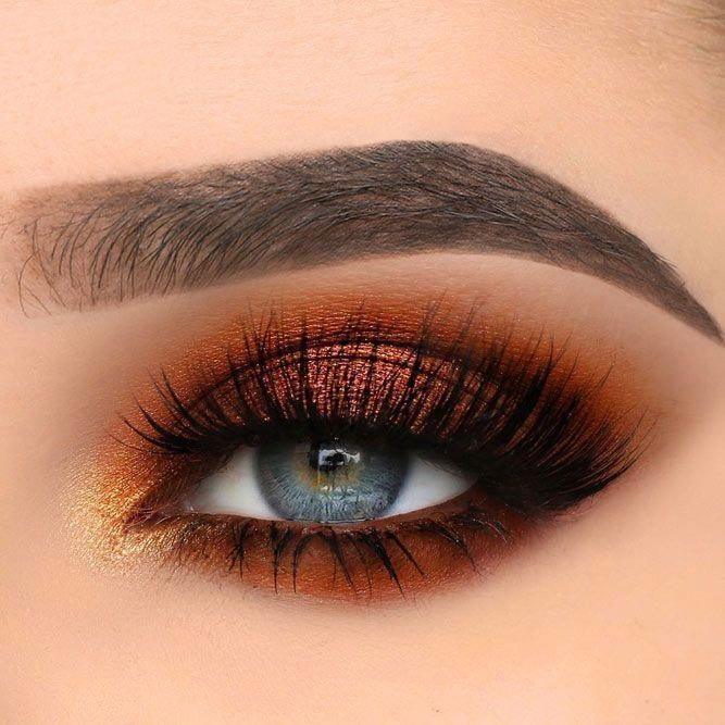 Inspiration For A Glamorous New Years Eve Makeup In Orange And