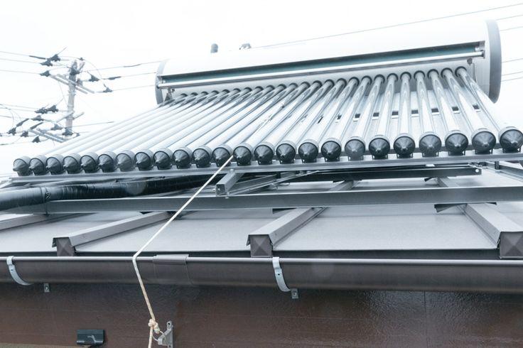 真空管式太陽熱温水器 イケメン。