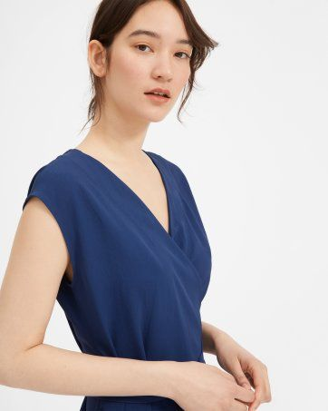 0961d2d8a12 The Japanese GoWeave Short-Sleeve Mini Wrap Dress - Everlane ...