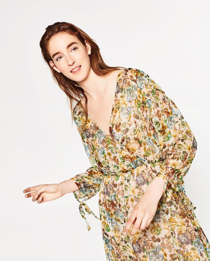 ZARA - WOMAN - PRINTED CREPE DRESS