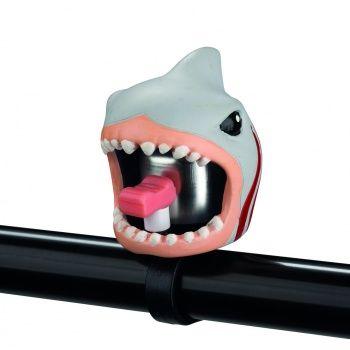 Dzwonek rowerowy Crazy Safety - Biały Rekin