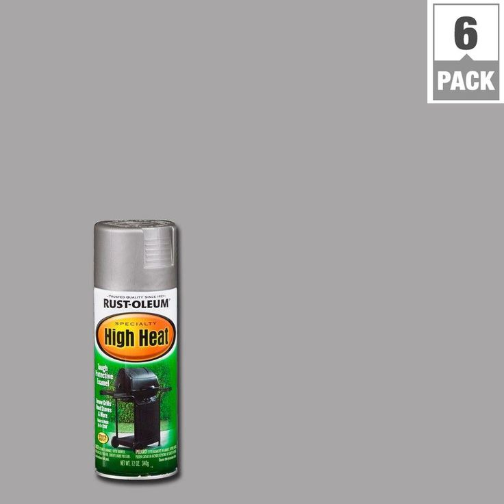 Rust-Oleum Specialty 12 oz. Silver High Heat Spray Paint (6-Pack)