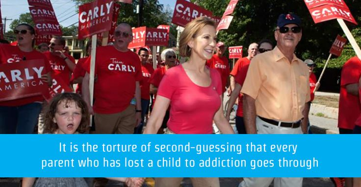 Presidential Hopeful Carly Fiorina Carries A Heartbreak That's Increasingly Familiar In American Life: Losing A Loved One To Addiction.
