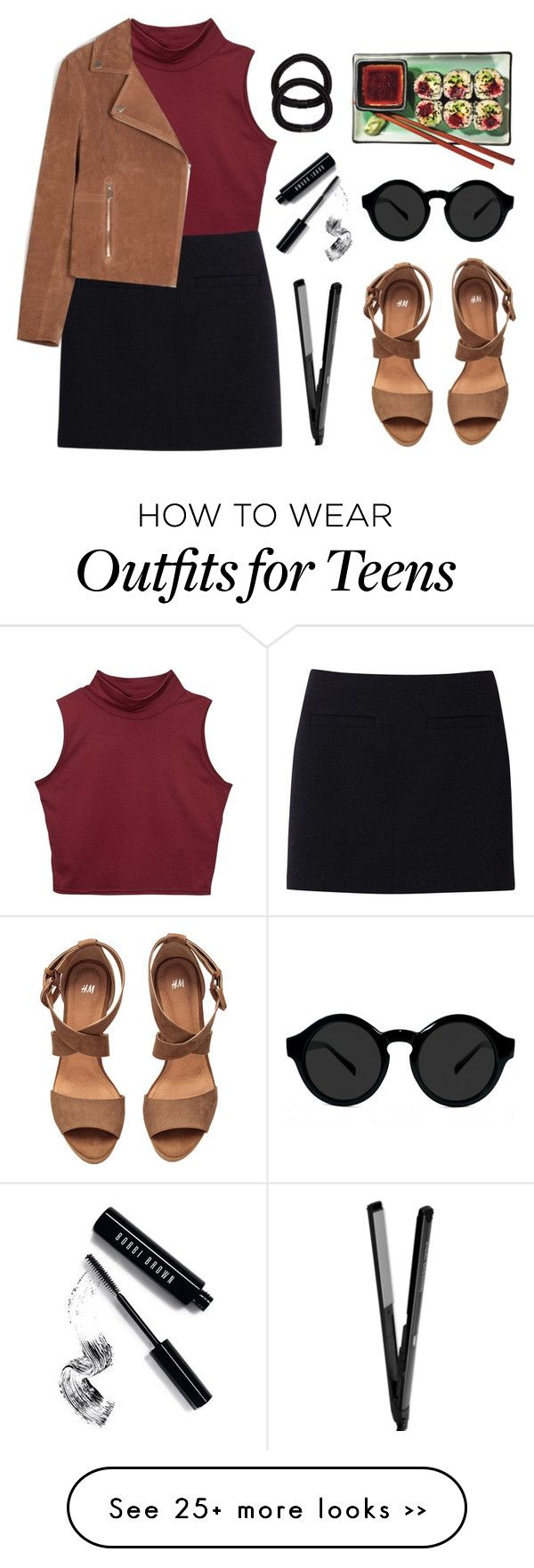 """Sushi date"" by felytery on Polyvore featuring Uniqlo, Belgique, John Lewis, Bobbi Brown Cosmetics and H&M"