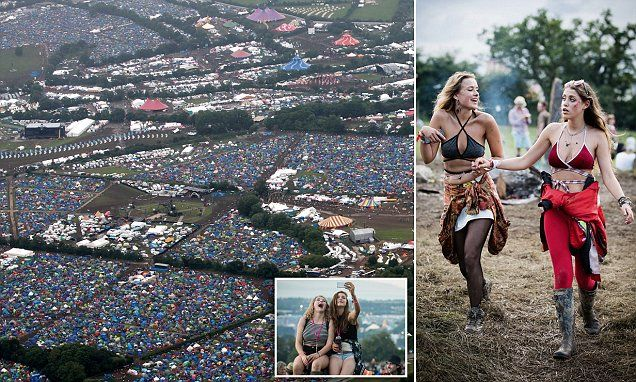 Glastonbury Festival weather forecasts 21C heatas the rest of the UK gets a soaking