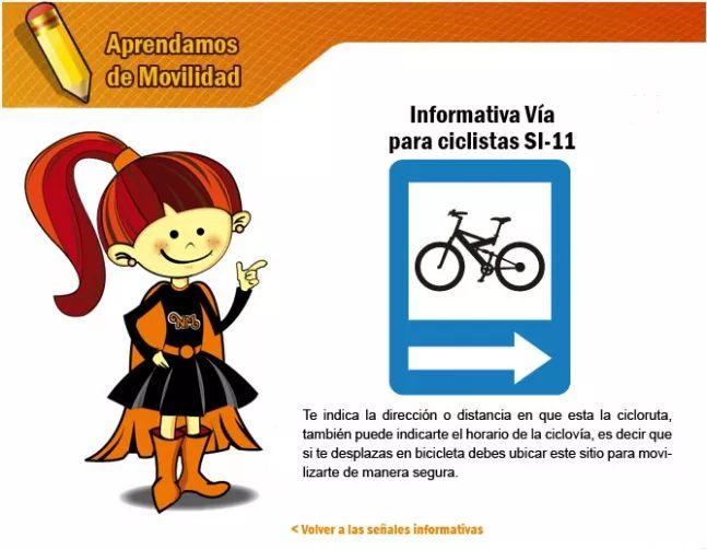 Las señales informativas 4 - Secretaria Distrital de Movilidad