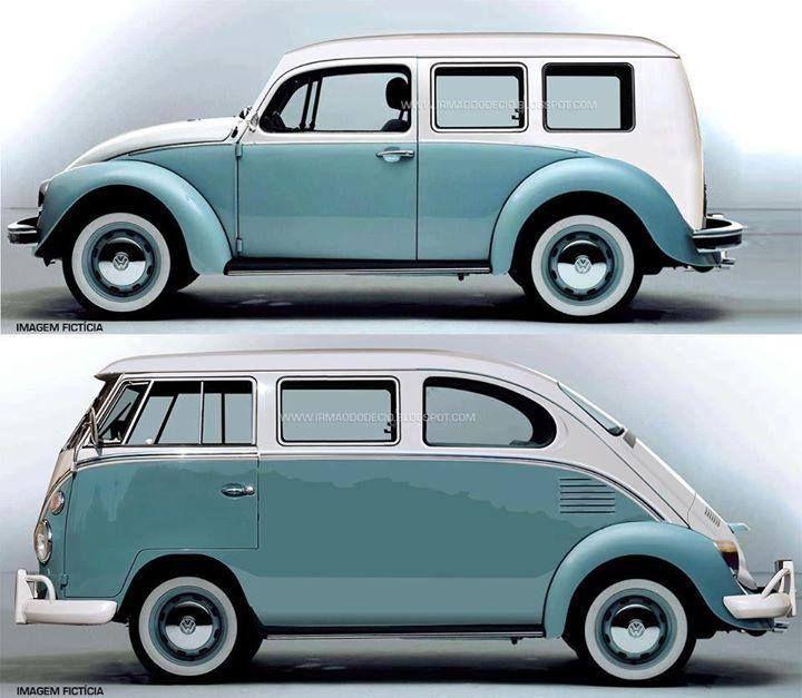 interesting concepts for hybrid vintage vw split screen bus and vw beetle funny cars. Black Bedroom Furniture Sets. Home Design Ideas