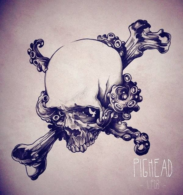 Drawing by Gro Fab tattoo artist in Paris fr #tattoo #skull #flash #grofab  #matierenoiretattoo #matierenoire #paris #france