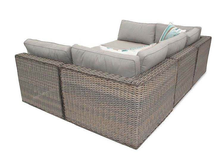 Cool Ascot Rattan Modular Corner Sofa Daybed Set Natural
