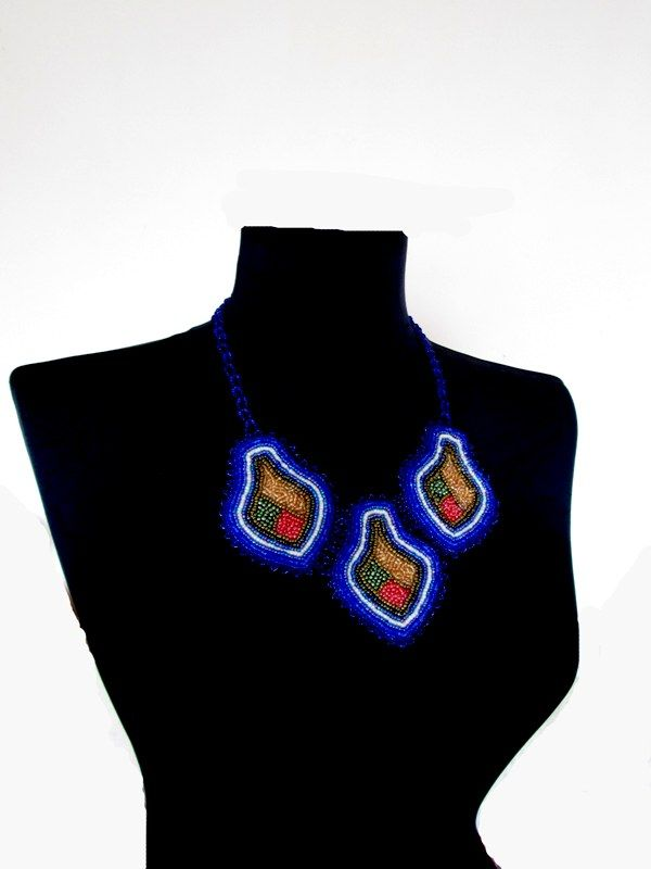 blue beads, fashion design, beading jewelry