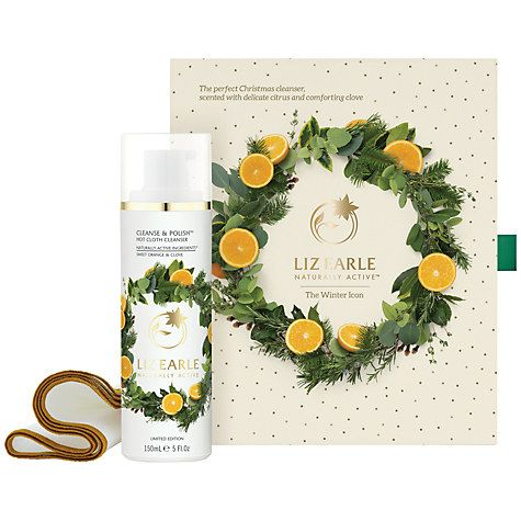 Buy Liz Earle The Winter Icon Cleanse & Polish™  Hot Cloth Cleanser Sweet Orange & Clove Skincare Gift Set Online at johnlewis.com