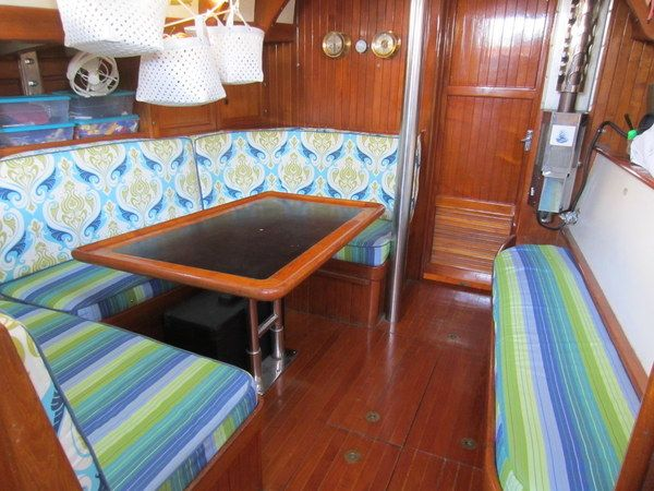 This Boat Owner Used Her Sewing Machine And Combined Complementary Patterns  To Create This Fun, Personalized Saloon. Sadly This Beautiful Sailboat/home  Was ...