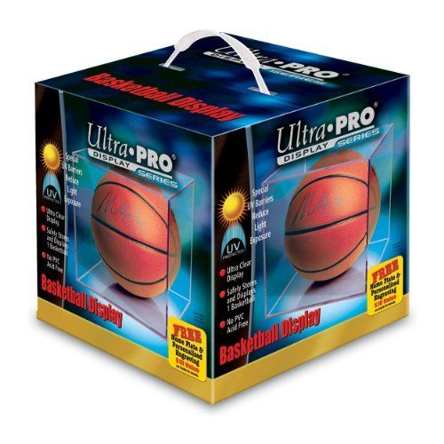 Ultra Pro Basketball Display Case with UV Protection by Ultra Pro. $24.99. Protect your prized basketball in this acid-free plastic display case from UltraPro®, featuring special UV barriers that reduce light exposure and help preserve your memorabilia.