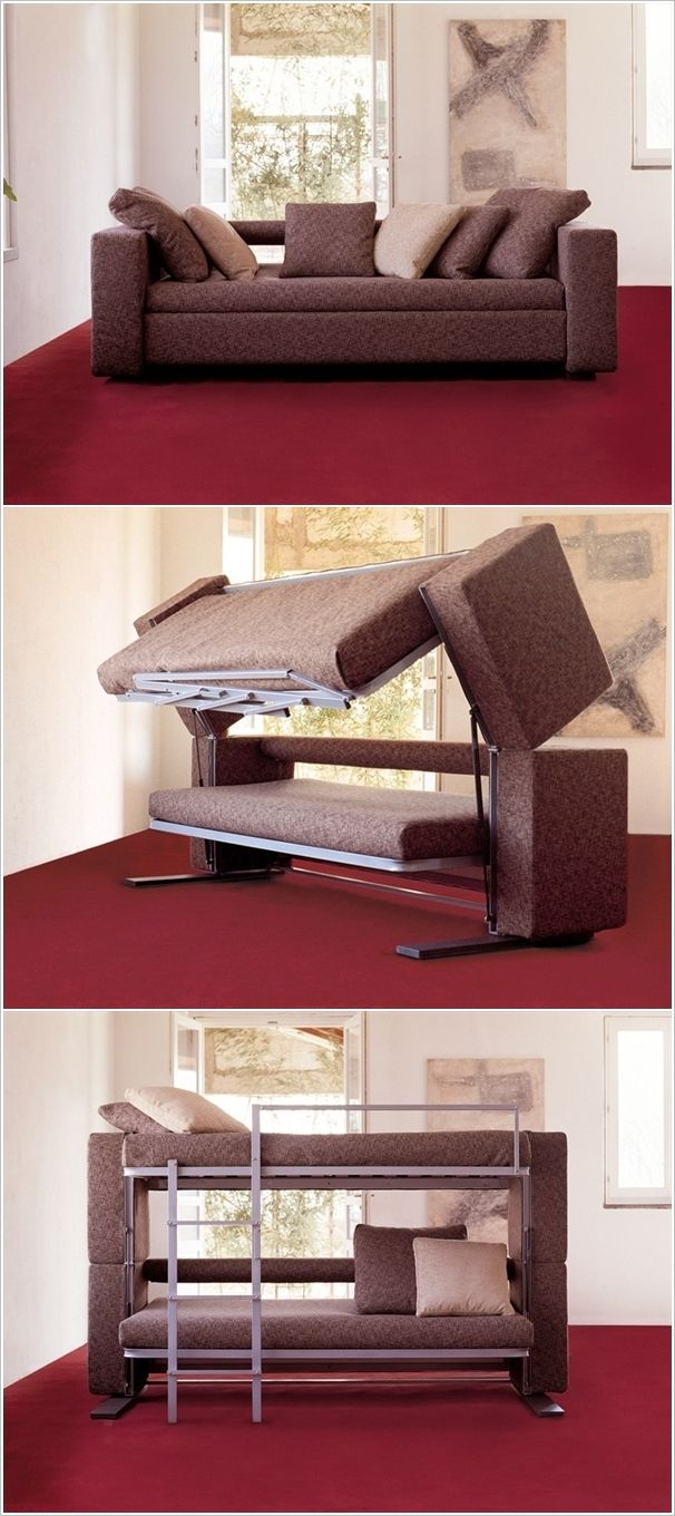 Don T Be Fooled By Its Simplicity A Couch That Converts Into Bunk Bed How Cool Is Unbelievably Thingamajig Pinterest