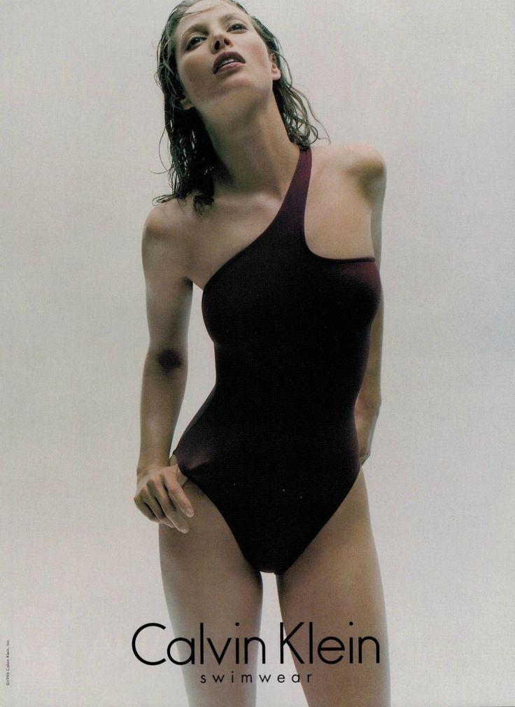 "90's Maillot // Christy Turlington for Calvin Klein (1996) """