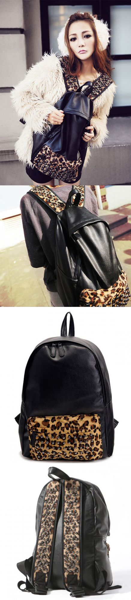 2017 Cute Punk Rivet Leopard Print Backpack for Girls backpack college laptops,backpack black,backpack black small,backpack black white,backpack black school,backpack men travel,backpack men,backpack men travel canvases,backpack men college,backpack men fashion,backpack men fashion style,backpack men fashion canvases,backpack men's laptop,school bags,school bags tote handbags,school bags tote style