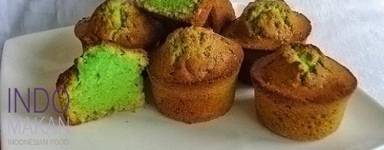 Kue Kentang Pandan - Green potato cakes with pandan flavor