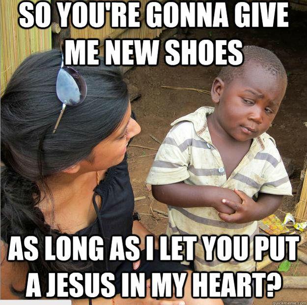 african boy meme Skeptical
