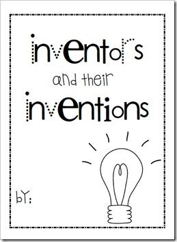 This website has a ton of great ideas! The image is of the journal that she has them keep of information they learn about inventors. She also had her first graders experiment with phones they made from tin cans, which I think is a fun, authentic activity. BP