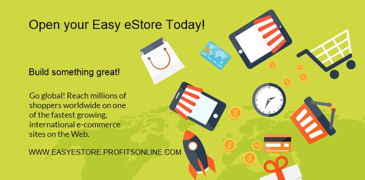 Open up your very own Easy eStore and offer your products, goods or services to potentially millions of viewers world-wide.