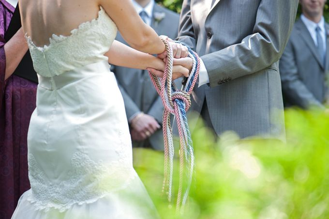 hand fastening ceremony | Ayres Photography