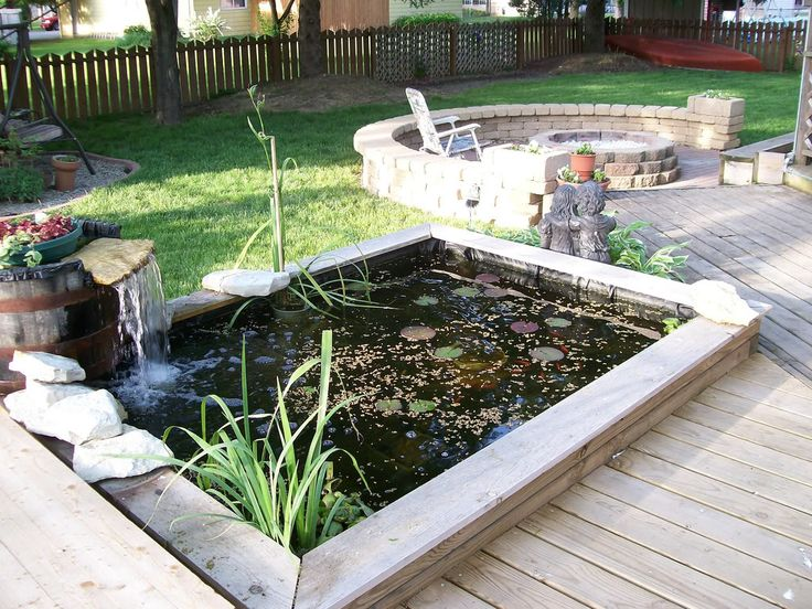 17 best images about garden ideas on pinterest gardens for Raised koi pond ideas