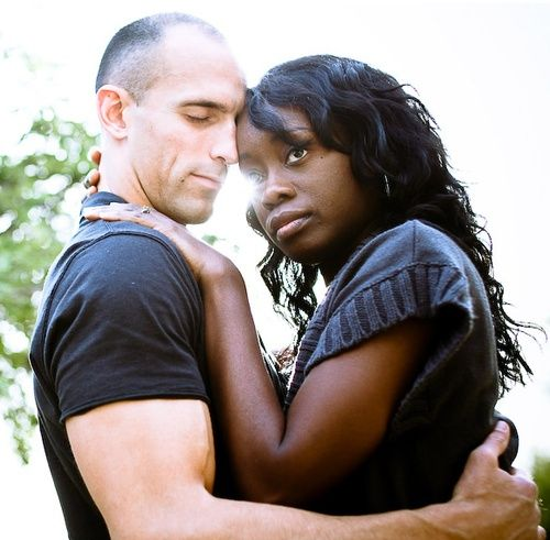White girl dating a black man