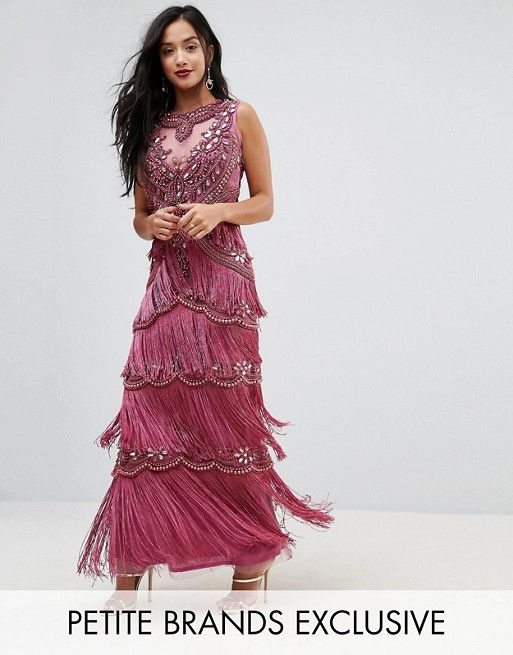 A Star Is Born Petite Maxi Dress With All Over Embellishment