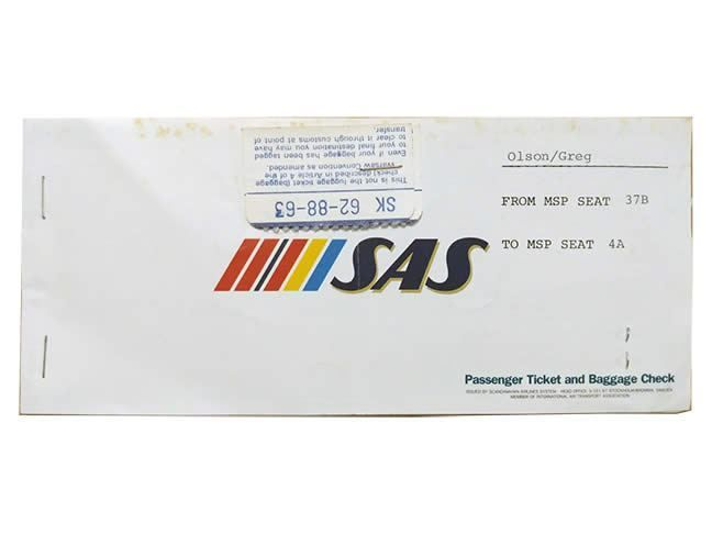 Sas Scandinavian Airlines Ticket 1984 Gate 72 In 2020 Airline Tickets Sas Airlines